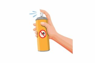 Print on Demand: Hand Holding Pest Control Spray Cartoon Graphic Illustrations By aryo.hadi