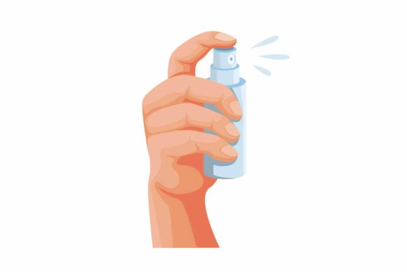 Download Free Hand Holding Pocket Spray Bottle Vector Graphic By Aryo Hadi Creative Fabrica for Cricut Explore, Silhouette and other cutting machines.
