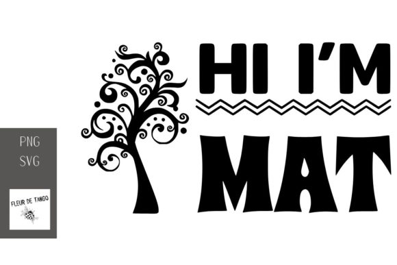 Print on Demand: Hi, I'm Mat Graphic Print Templates By Fleur de Tango