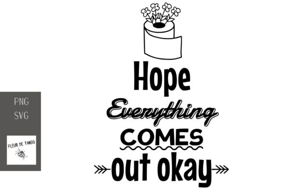 Print on Demand: Hope Everything Comes out Okay Graphic Print Templates By Fleur de Tango