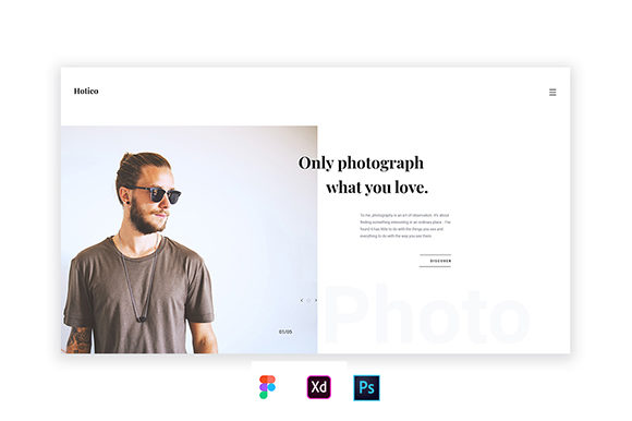 Hotico Minimal Template Graphic Free Download
