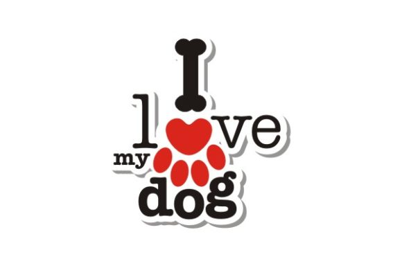 Download Free I Love My Dog Typography Graphic By Ts D Sign Creative Fabrica for Cricut Explore, Silhouette and other cutting machines.