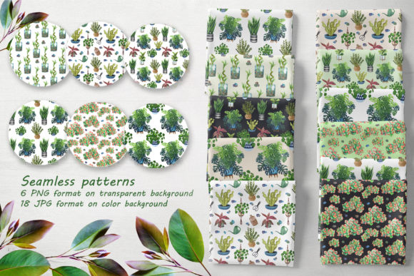 Download Free Indoor Plants Watercolor Clip Art Graphic By Barvart Creative for Cricut Explore, Silhouette and other cutting machines.