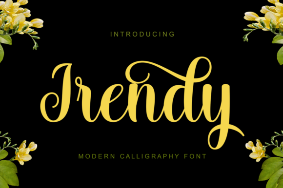 Print on Demand: Irendy Script & Handwritten Font By gatype