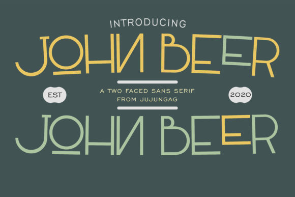 Print on Demand: John Beer Sans Serif Font By Gens Creatif Store