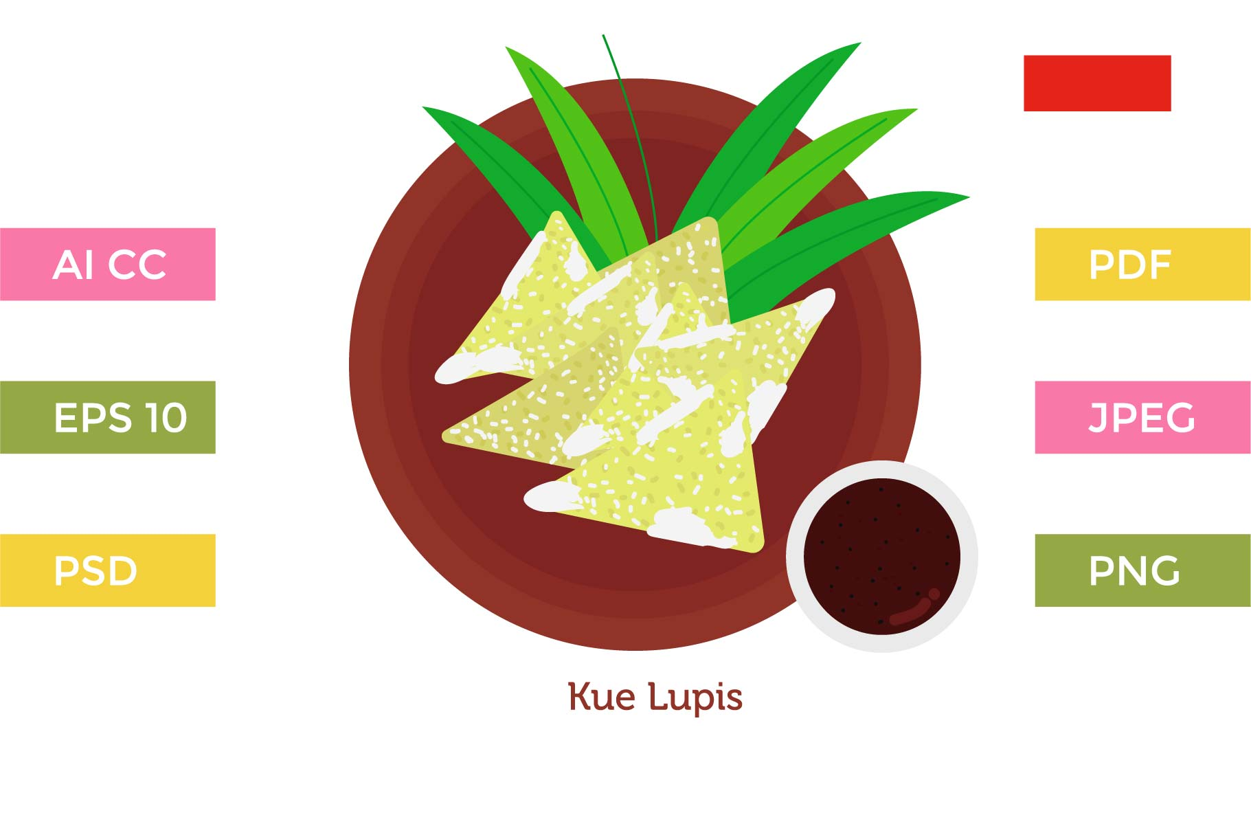 Download Free Kue Lupis Indonesia Cakes Graphic By Griyolabs Creative Fabrica for Cricut Explore, Silhouette and other cutting machines.