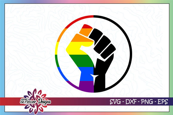 Download Free Lgbt Fist Equality Graphic By Ssflower Creative Fabrica for Cricut Explore, Silhouette and other cutting machines.