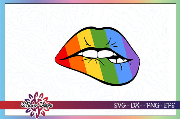 Download Free Lgbt Lips Graphic By Ssflower Creative Fabrica for Cricut Explore, Silhouette and other cutting machines.