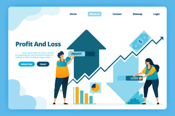 Download Free Landing Page Of Capital Profit And Loss Graphic By for Cricut Explore, Silhouette and other cutting machines.