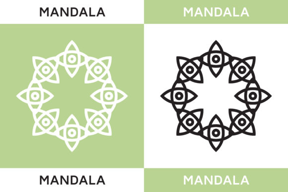Download Free Decorative Mandala Ornaments Graphic By Highvoice Creative Fabrica for Cricut Explore, Silhouette and other cutting machines.