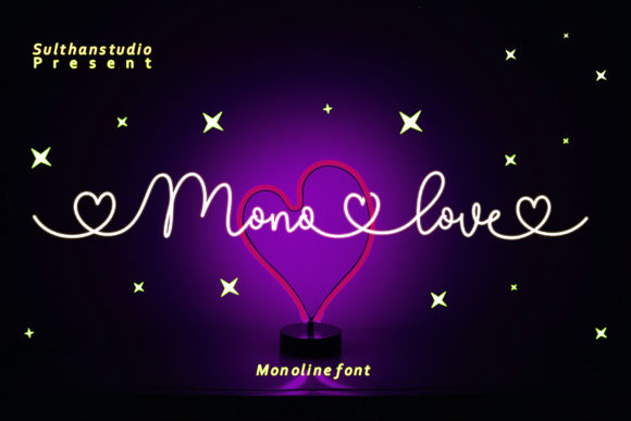 Download Free Mono Love Font By Sulthan Studio Creative Fabrica for Cricut Explore, Silhouette and other cutting machines.