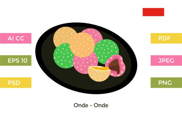 Download Free Onde Onde Indonesia Cakes Graphic By Griyolabs Creative Fabrica for Cricut Explore, Silhouette and other cutting machines.