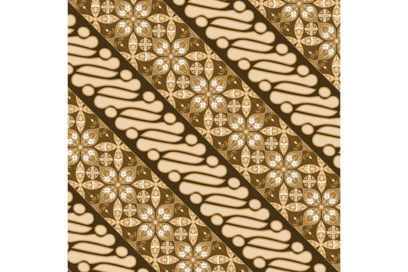 Download Free Parang Batik Design With Golden Color Graphic By Cityvector91 for Cricut Explore, Silhouette and other cutting machines.