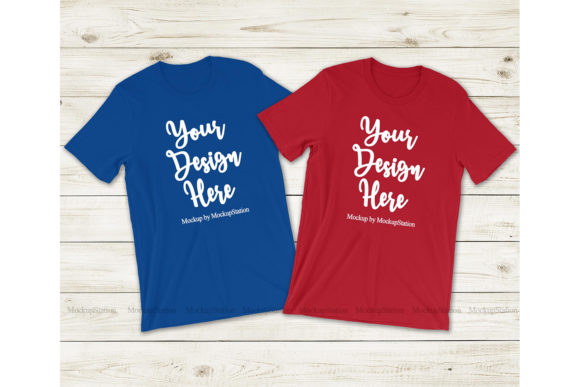Download Free Patriotic Matching Couple T Shirt Mockup Graphic By Mockup for Cricut Explore, Silhouette and other cutting machines.