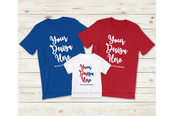 Download Free Patriotic Matching Family Tshirt Mockup Graphic By Mockup Station Creative Fabrica for Cricut Explore, Silhouette and other cutting machines.