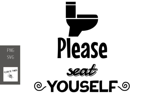 Print on Demand: Please Seat Youself Graphic Print Templates By Fleur de Tango