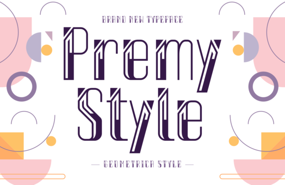 Print on Demand: Premy Style Display Font By Situjuh