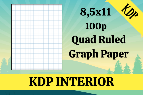 Print on Demand: Quad Ruled Graph Paper | KDP Interior Graphic KDP Interiors By Hungry Puppy Studio