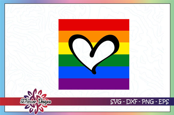 Download Free Rainbow Heart Lgbt Graphic By Ssflower Creative Fabrica for Cricut Explore, Silhouette and other cutting machines.