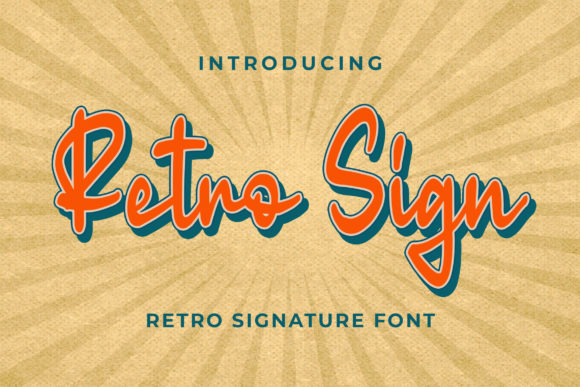 Print on Demand: Retro Sign Script & Handwritten Font By Blankids Studio