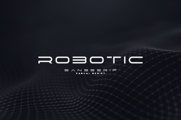 Print on Demand: Robotic Display Font By pusaramakna