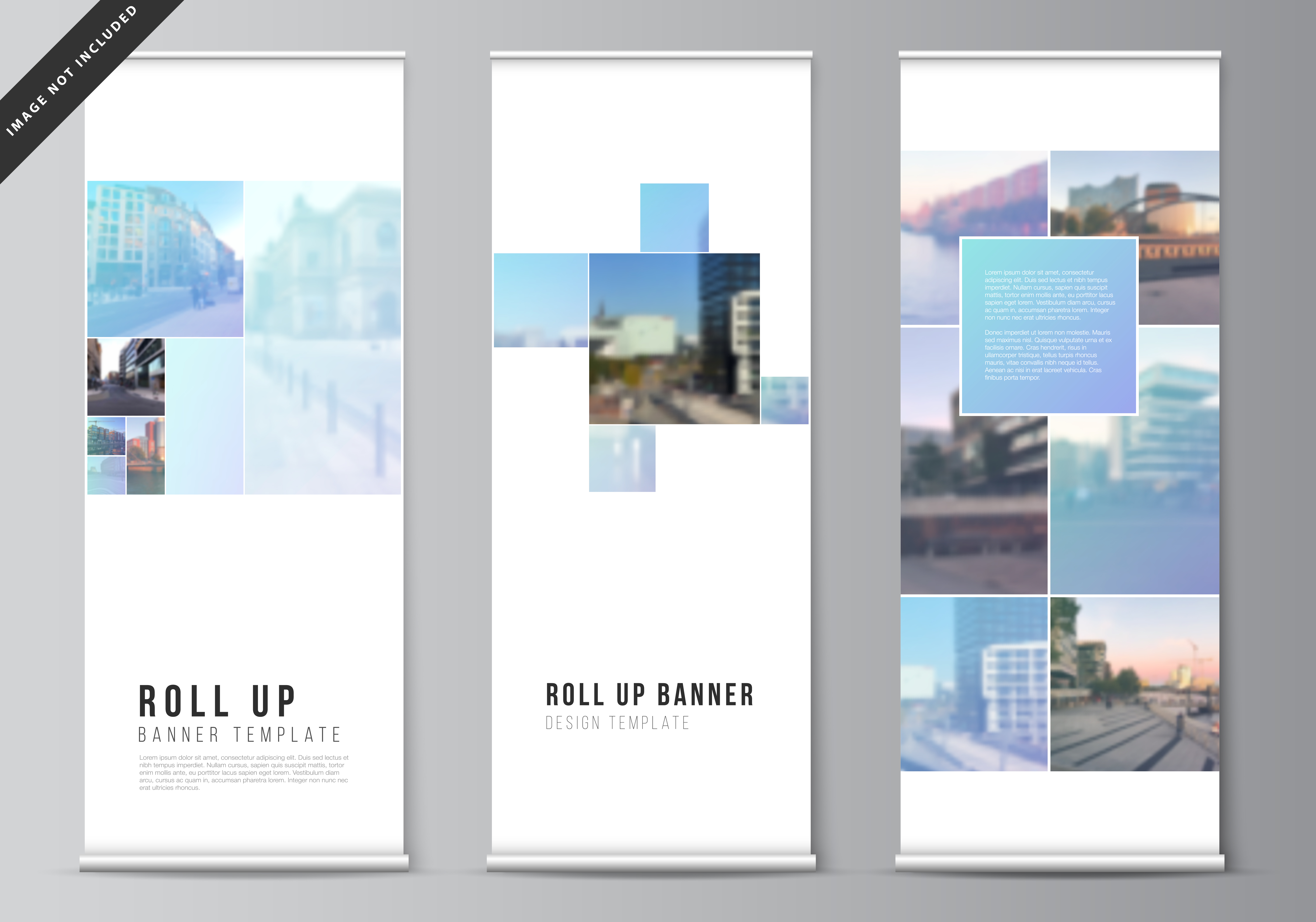 Download Free Roll Up Mockup Design Templates V 02 Graphic By Raevsky Lab for Cricut Explore, Silhouette and other cutting machines.