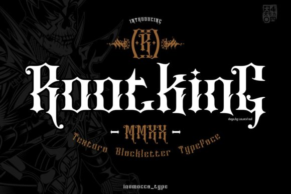 Print on Demand: RootKing Blackletter Font By inumocca_type