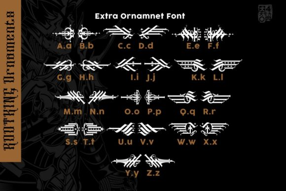 Print on Demand: RootKing Blackletter Font By inumocca_type - Image 3