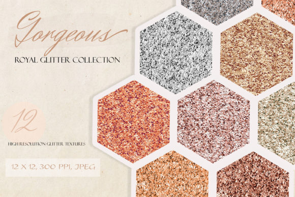 Download Free Royal Metallic Glitter Digital Paper Set Graphic By Liquid for Cricut Explore, Silhouette and other cutting machines.