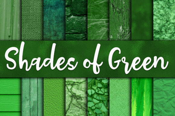Print on Demand: Shades of Green Digital Paper Textures Graphic Textures By oldmarketdesigns