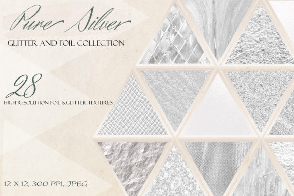 Download Free Silver Metallic Luxury Digital Paper Graphic By Liquid Amethyst for Cricut Explore, Silhouette and other cutting machines.