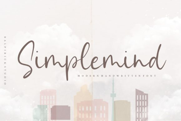 Print on Demand: Simplemind Script & Handwritten Font By Balpirick