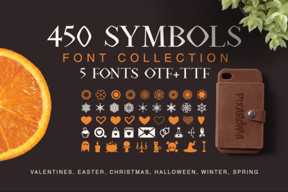 Print on Demand: Symbols Collection Dingbats Fuente Por pixaroma