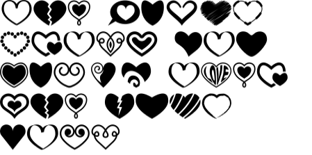 Download Free Symbols Collection Font By Pixaroma Creative Fabrica for Cricut Explore, Silhouette and other cutting machines.