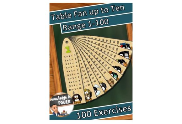 Table Fan Up to Ten Graphic Teaching Materials By alifarid