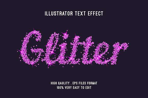 Text Effect - Glitter Pink Text Style Graphic Graphic Templates By Amrikhsn