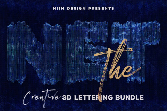 Print on Demand: The Net – 3D Lettering Graphic Objects By JumboDesign