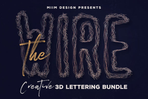 Print on Demand: The Wire – 3D Lettering Graphic Objects By JumboDesign