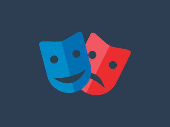 Download Free Theater Mask Icon Full Color Graphic By Meandmydate Creative for Cricut Explore, Silhouette and other cutting machines.