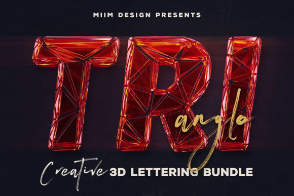 Download Free Trianglo 3d Lettering Graphic By Jumbodesign Creative Fabrica SVG Cut Files