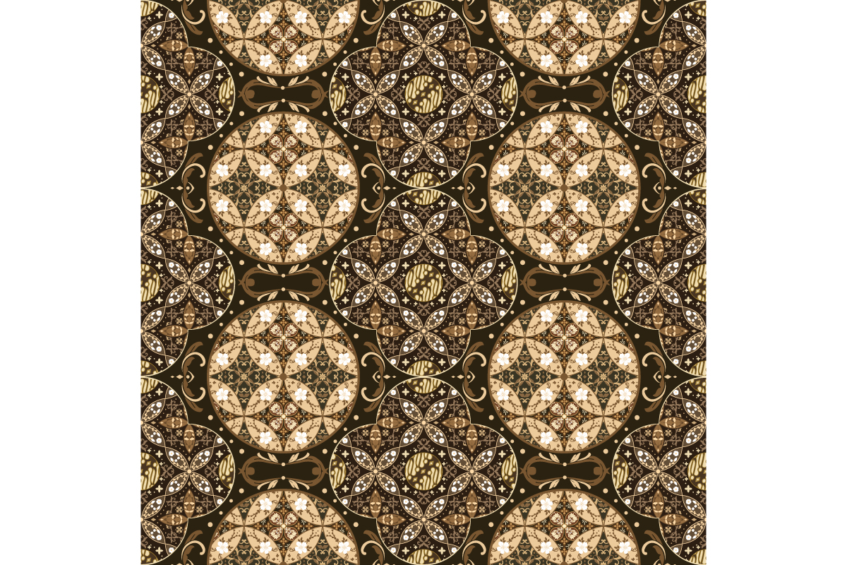 Download Free Unique Circle Pattern Design On Batik Graphic By Cityvector91 for Cricut Explore, Silhouette and other cutting machines.