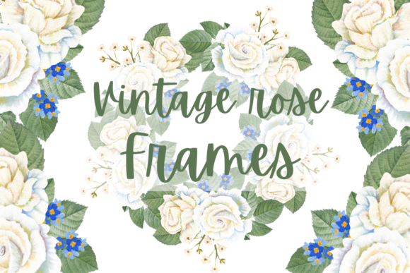 Print on Demand: Vintage Rose Wreaths Graphic Illustrations By Andreea Eremia Design
