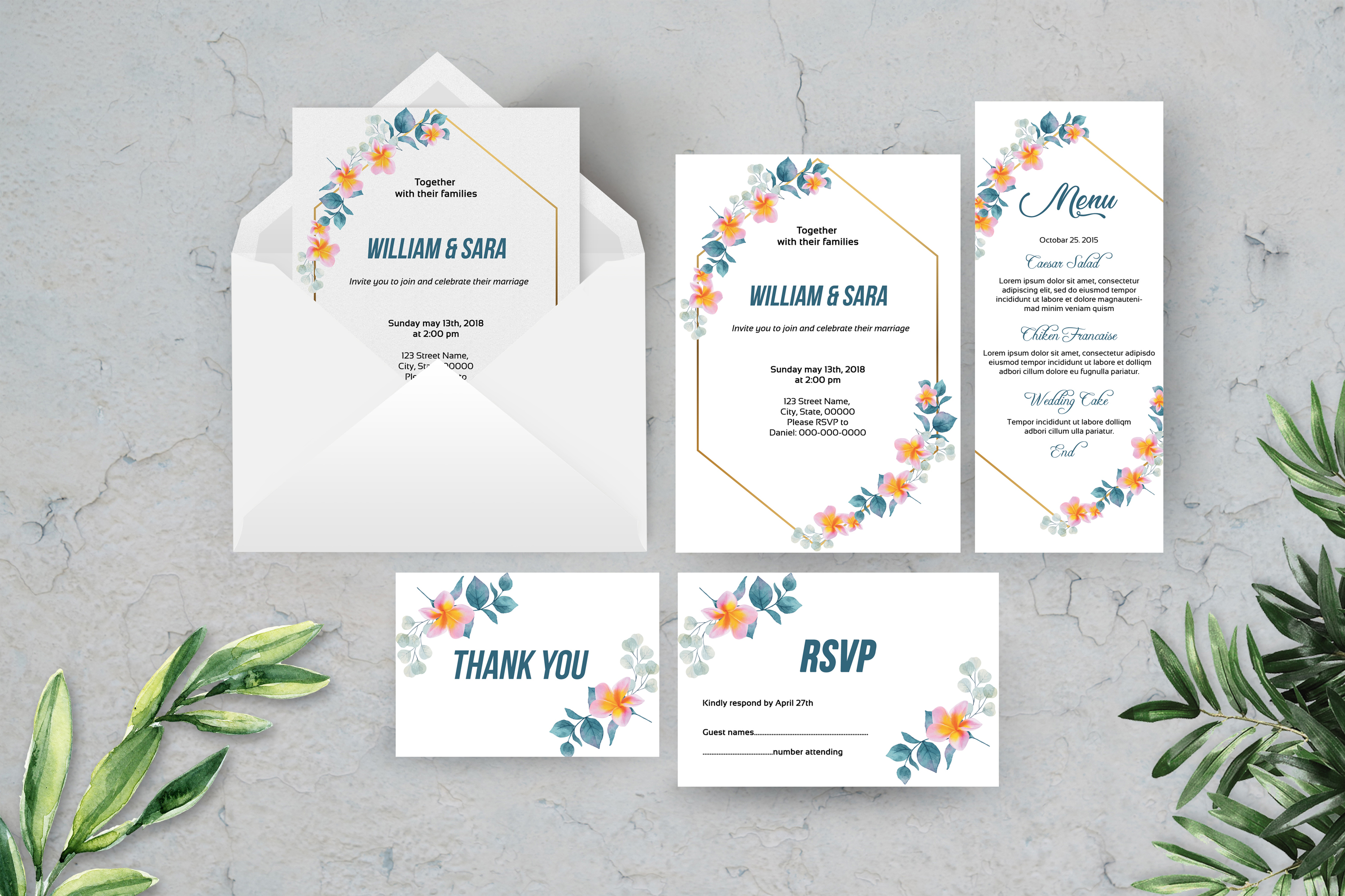 Download Free Wedding Invitation Template Set Graphic By Sistecbd Creative SVG Cut Files