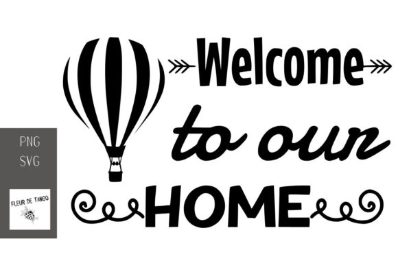 Print on Demand: Welcome to Our Home Graphic Print Templates By Fleur de Tango