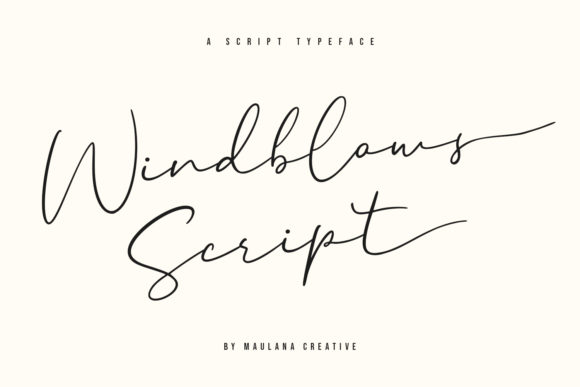 Download Free Windblows Script Font By Maulana Creative Creative Fabrica for Cricut Explore, Silhouette and other cutting machines.