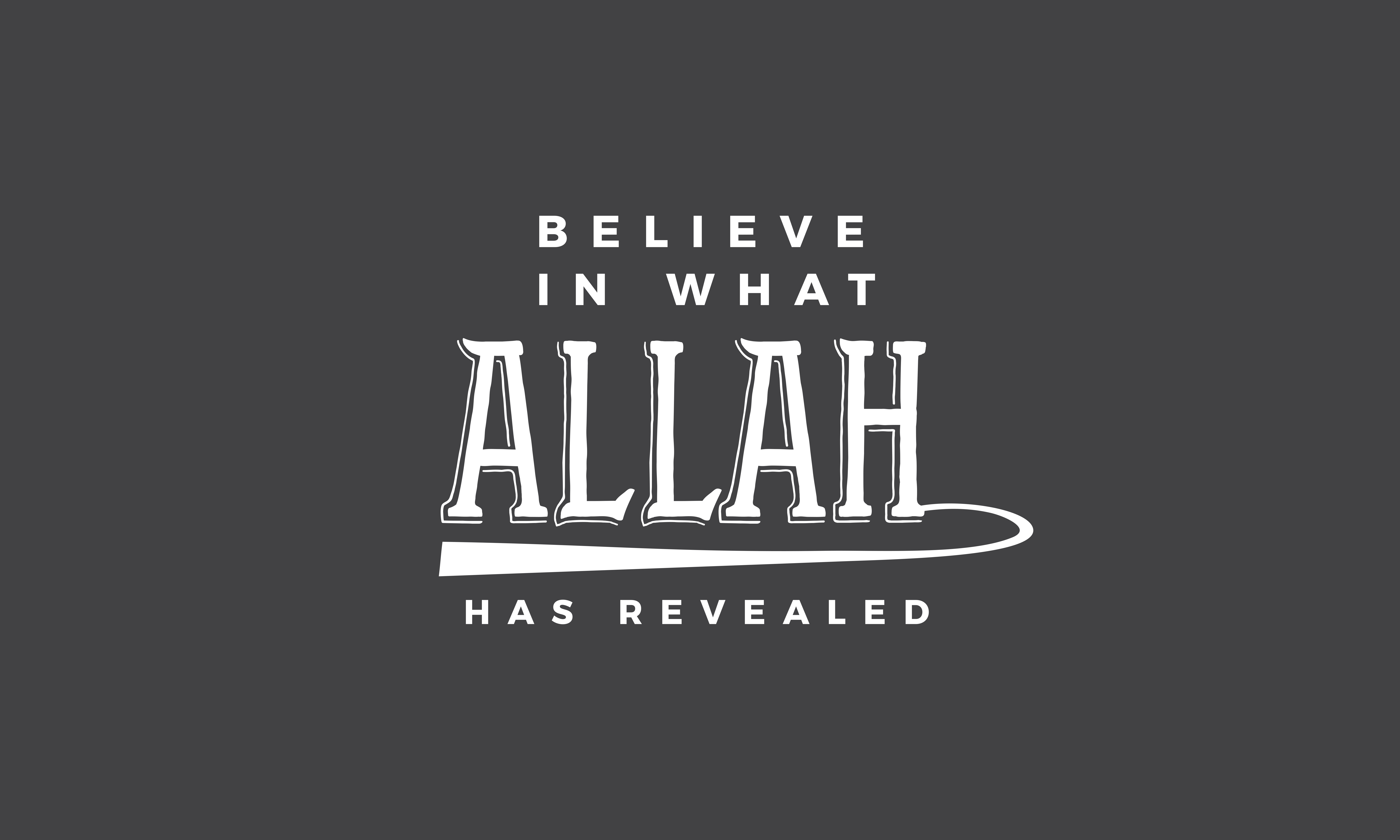 Download Free Believe In What Allah Has Revealed Graphic By Baraeiji for Cricut Explore, Silhouette and other cutting machines.