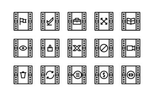 Cinema Black and White Line Icon Graphic Icons By glyph.faisalovers