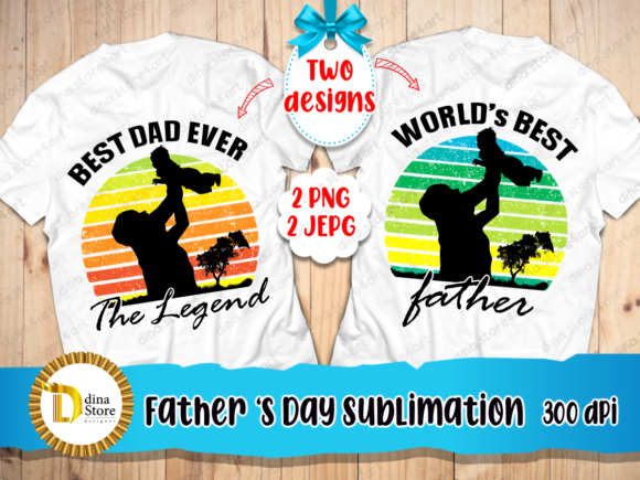 Print on Demand: Father's Day Sublimation Designs  Graphic Crafts By dina.store4art