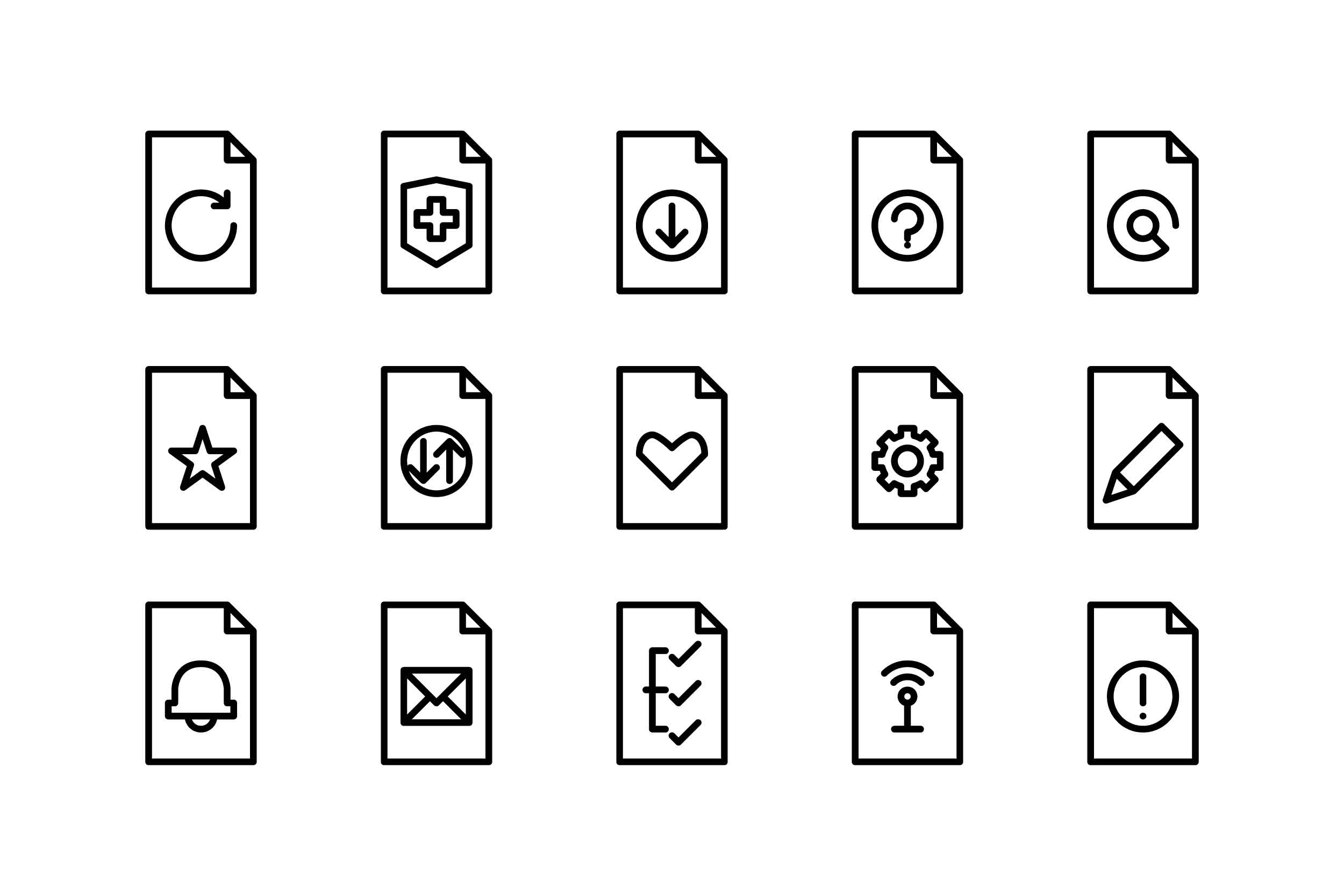 Download Free File Black And White Line Icon Graphic By Glyph Faisalovers for Cricut Explore, Silhouette and other cutting machines.