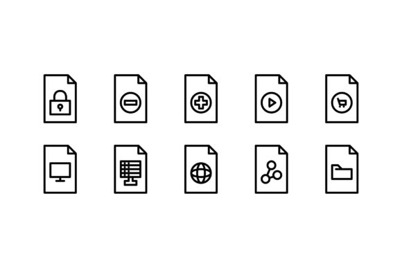 Download Free Files Black And White Line Icon Graphic By Glyph Faisalovers for Cricut Explore, Silhouette and other cutting machines.